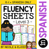 Spanish Reading Fluency Sheets 3