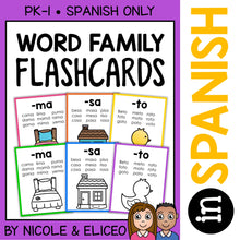 Load image into Gallery viewer, Spanish Word Family Flashcards
