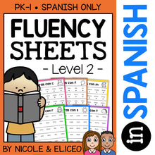 Load image into Gallery viewer, Spanish Reading Fluency Sheets 2