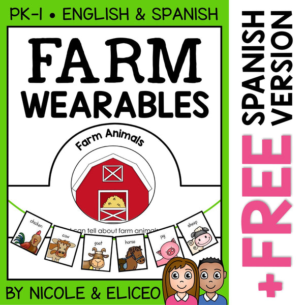 Farm Animals Activity Crown and Necklace