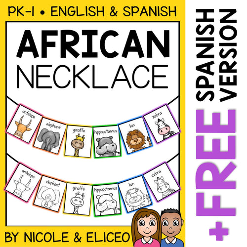 African Animal Activity Necklace Craft