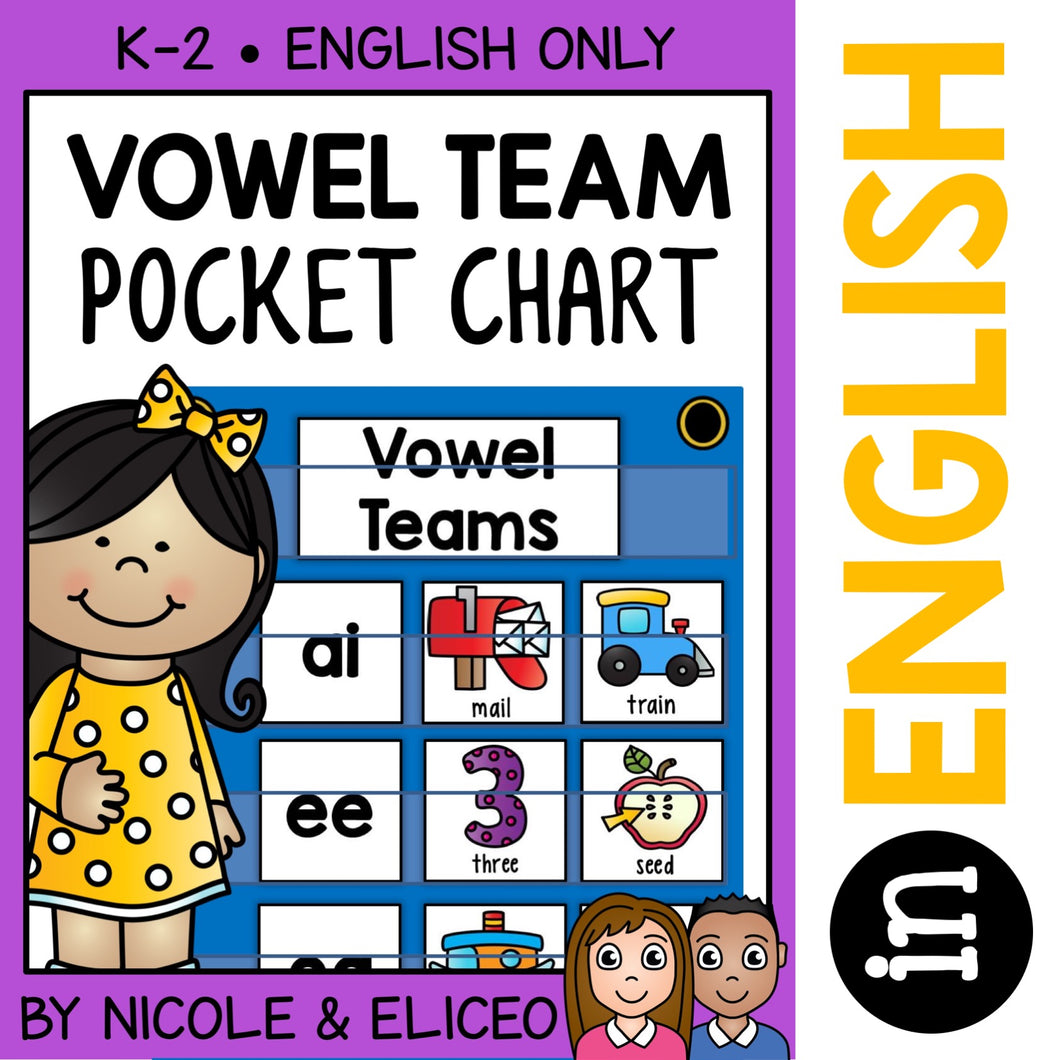 Vowel Team Phonics Pocket Chart Center