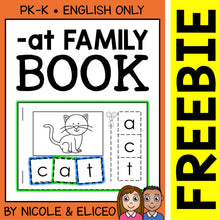 Load image into Gallery viewer, FREE at Family Interactive CVC Word Book