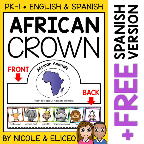 African Animal Activity Crown Craft