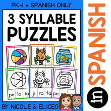 Load image into Gallery viewer, Spanish Syllable Activity Puzzles 3