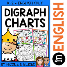 Load image into Gallery viewer, Digraphs Phonics Charts