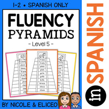 Load image into Gallery viewer, Spanish Reading Fluency Word Pyramids 5