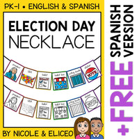 Election Day Activity Necklace Craft