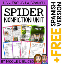 Load image into Gallery viewer, Spider Activities Nonfiction Unit