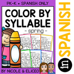 Spring Color by Spanish Syllable Activities