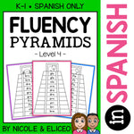 Spanish Reading Fluency Word Pyramids 4