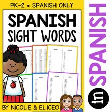 Load image into Gallery viewer, Spanish Sight Word Lists