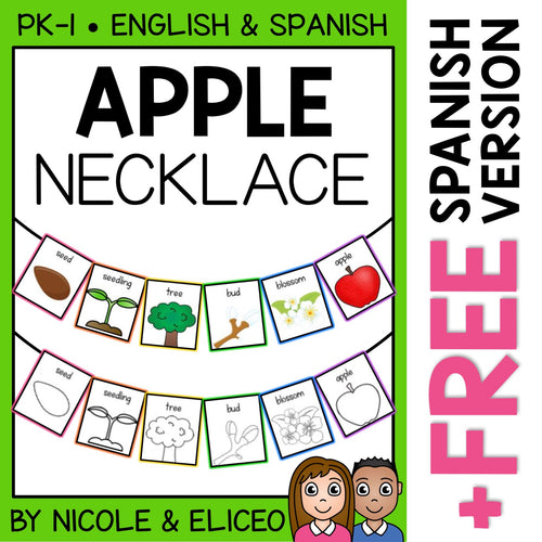 Apple Activity Necklace Craft