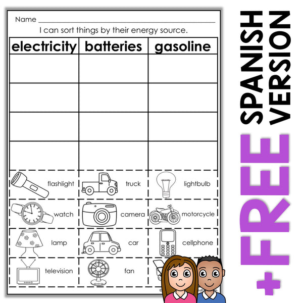Forms of Energy Sort Activity