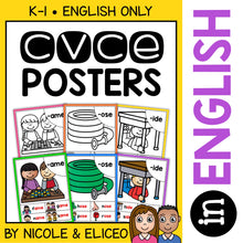 Load image into Gallery viewer, CVCe Word Work Phonics Posters