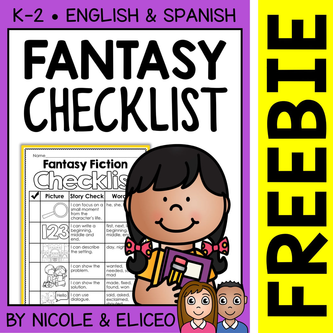 FREE Fantasy Fiction Writing Checklist