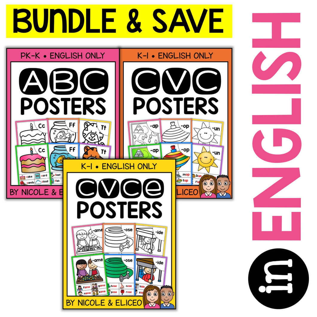Phonics Poster Bundle