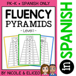 Spanish Reading Fluency Word Pyramids 1