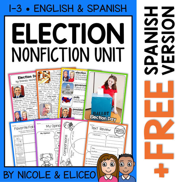 Election Day Activities Nonfiction Unit