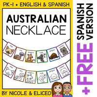 Australian Animal Activity Necklace Craft