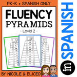 Spanish Reading Fluency Word Pyramids 2