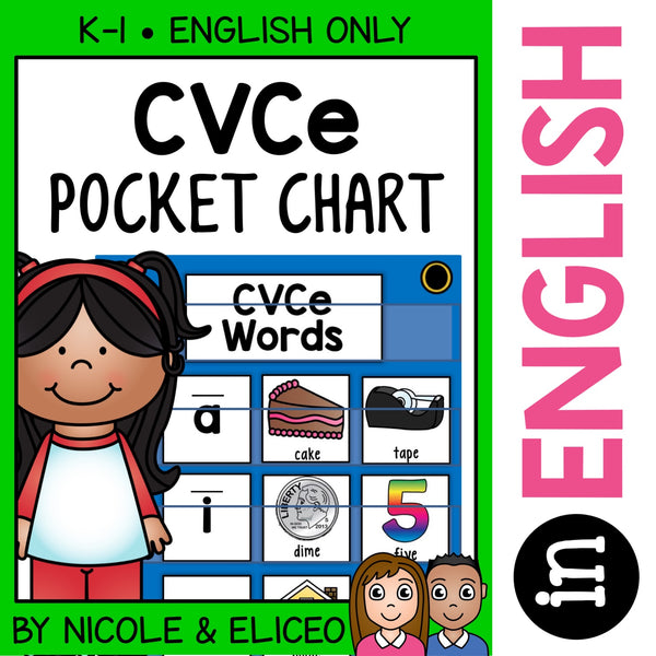 CVCe Word Pocket Chart Center