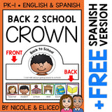 Back to School Activity Crown Craft