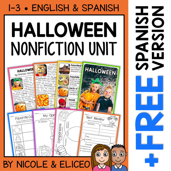 Halloween Activities Nonfiction Unit