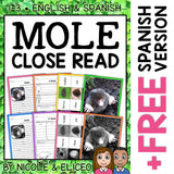 Mole Close Reading Passage Activities