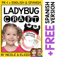 Load image into Gallery viewer, Ladybug Life Cycle Craft Activity