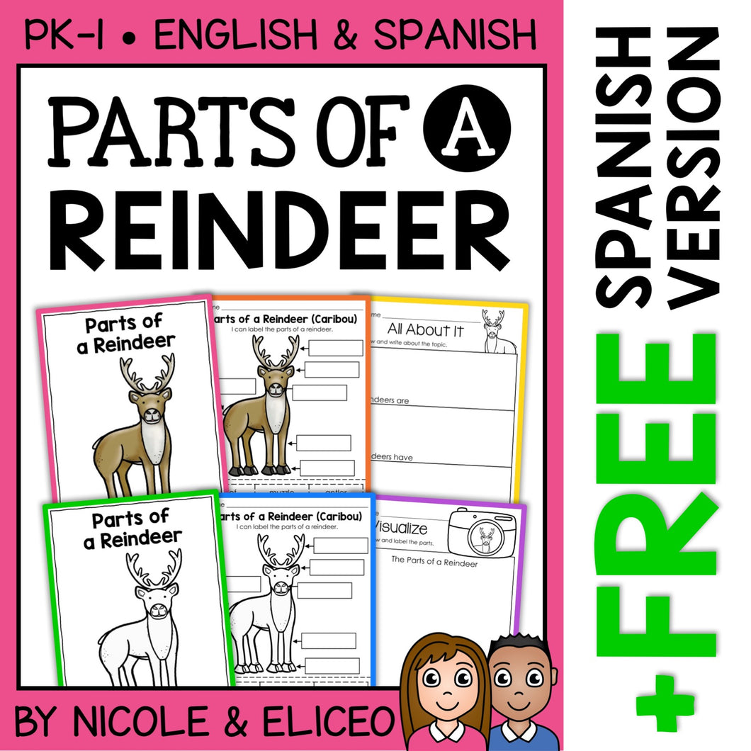 Parts of a Reindeer Activities