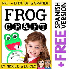 Load image into Gallery viewer, Frog Life Cycle Craft Activity