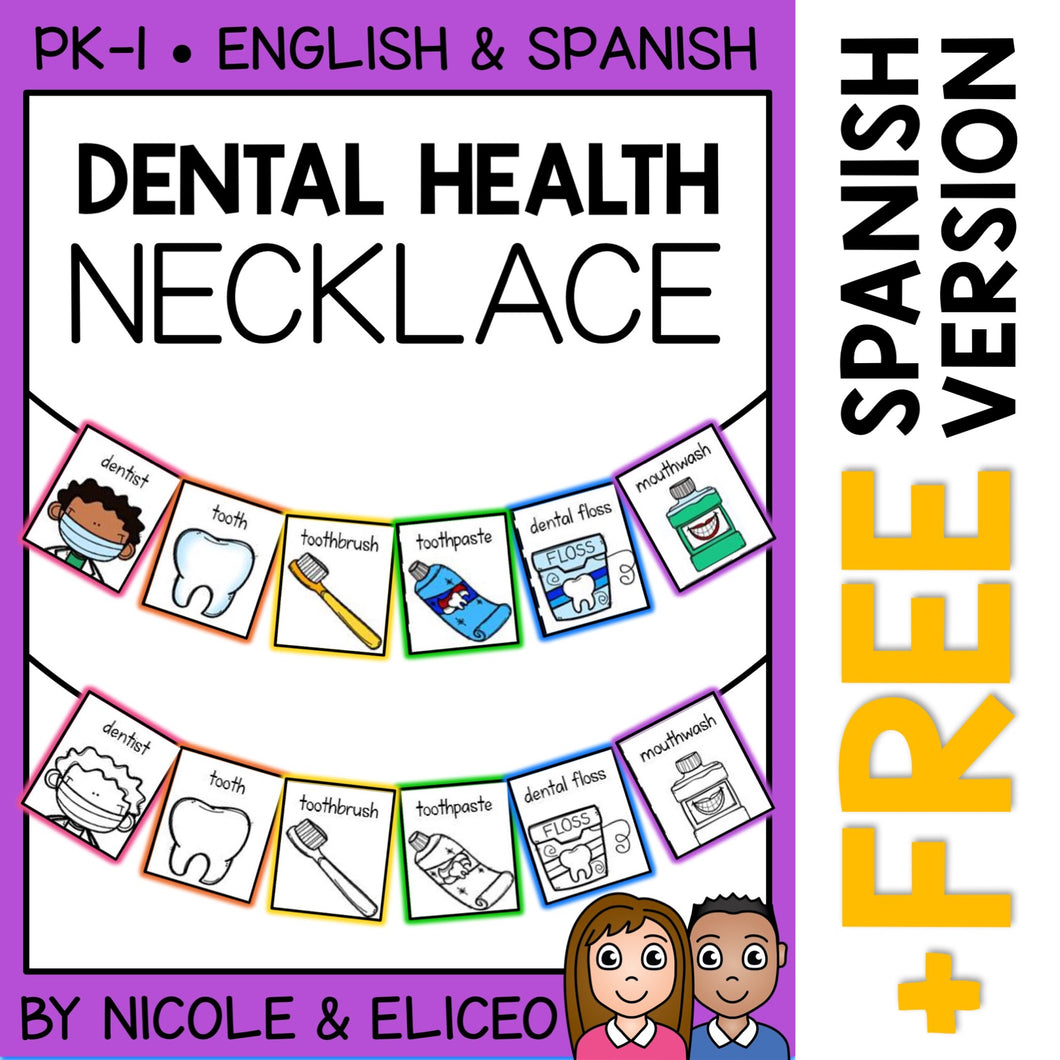 Dental Health Activity Necklace Craft