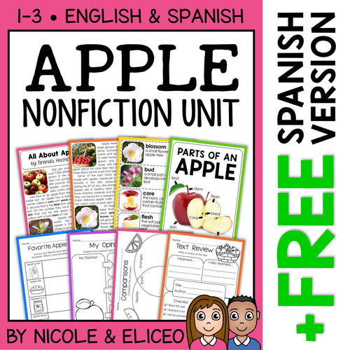 Apple Activities Nonfiction Unit