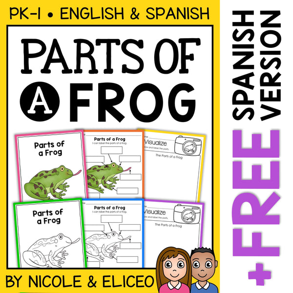 Parts of a Frog Activities