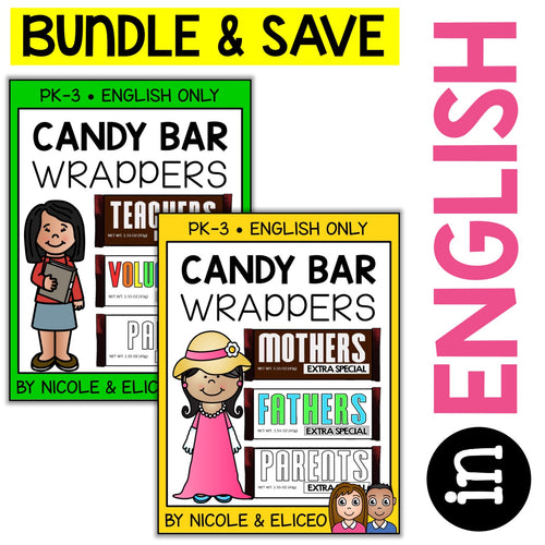 Gift Idea Candy Bar Wrappers Bundle