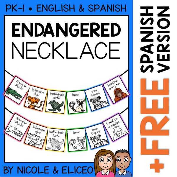Endangered Animal Activity Necklace Craft