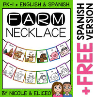 Farm Animal Activity Necklace Craft