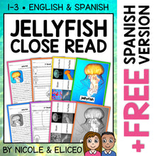 Load image into Gallery viewer, Jellyfish Close Reading Passage Activities