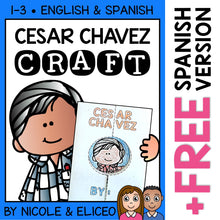 Load image into Gallery viewer, Cesar Chavez Hispanic Heritage Craft Activity