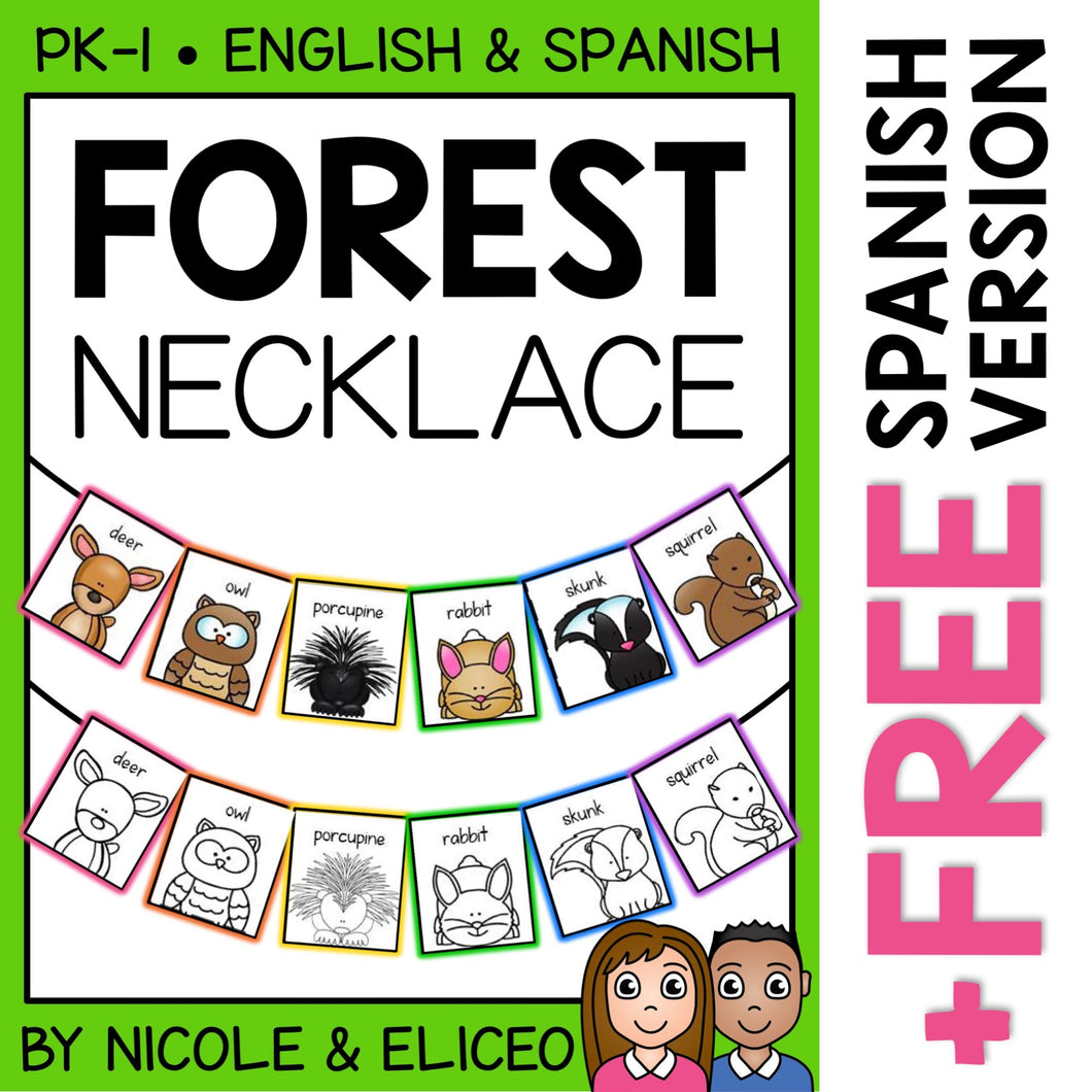Forest Animal Activity Necklace Craft