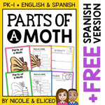 Parts of a Silkworm Moth Activities