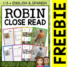 Load image into Gallery viewer, FREE Robin Close Reading Passage Activities