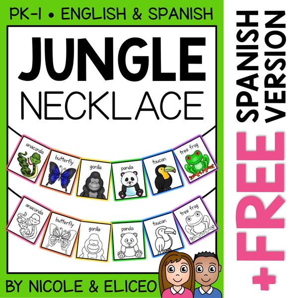 Jungle Animals Activity Necklace Craft