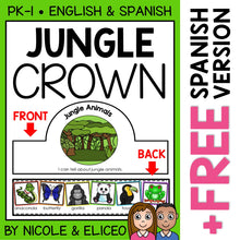 Load image into Gallery viewer, Jungle Animal Activity Crown Craft
