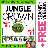 Jungle Animal Activity Crown Craft