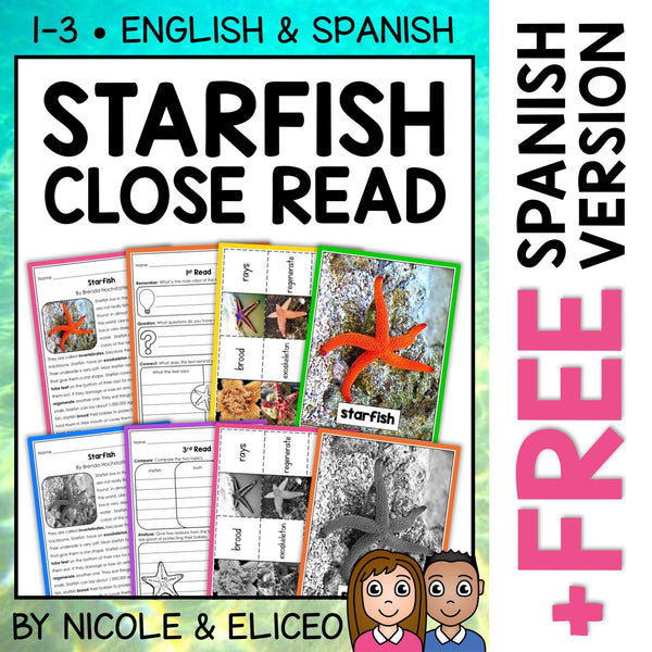 Starfish Close Reading Passage Activities