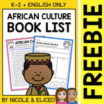 FREE African Culture Activities and Book List