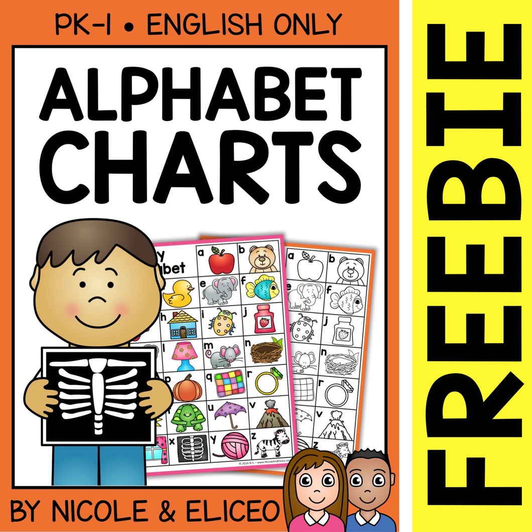 FREE Alphabet Charts Letters and Sounds