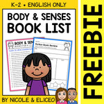FREE Body and Five Senses Activities and Book List